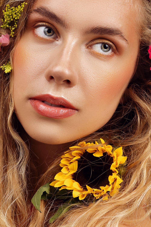 beauty fotoshoot Ymkje bloemen